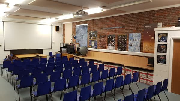 A photograph of the lecture theatre